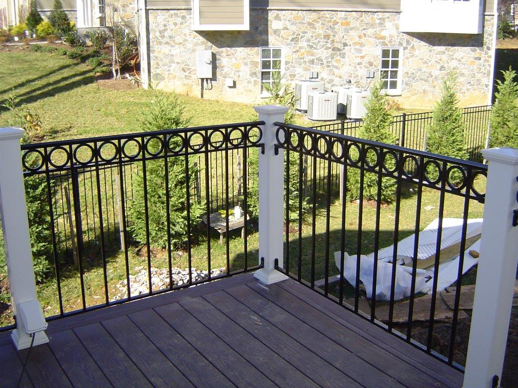 Deck rails w/ O rings