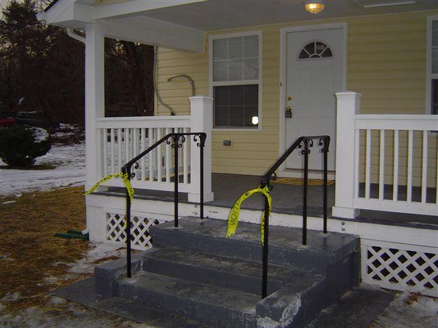 Stair rail w/ C scrolls