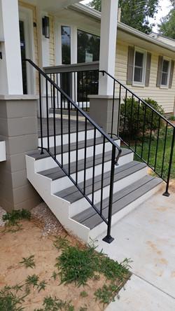 Stair rail w/ shoes