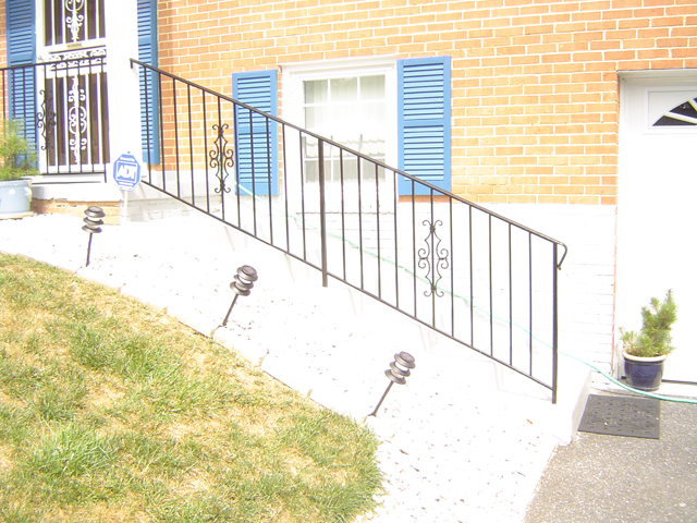 Stair rail w/ Victorian panels