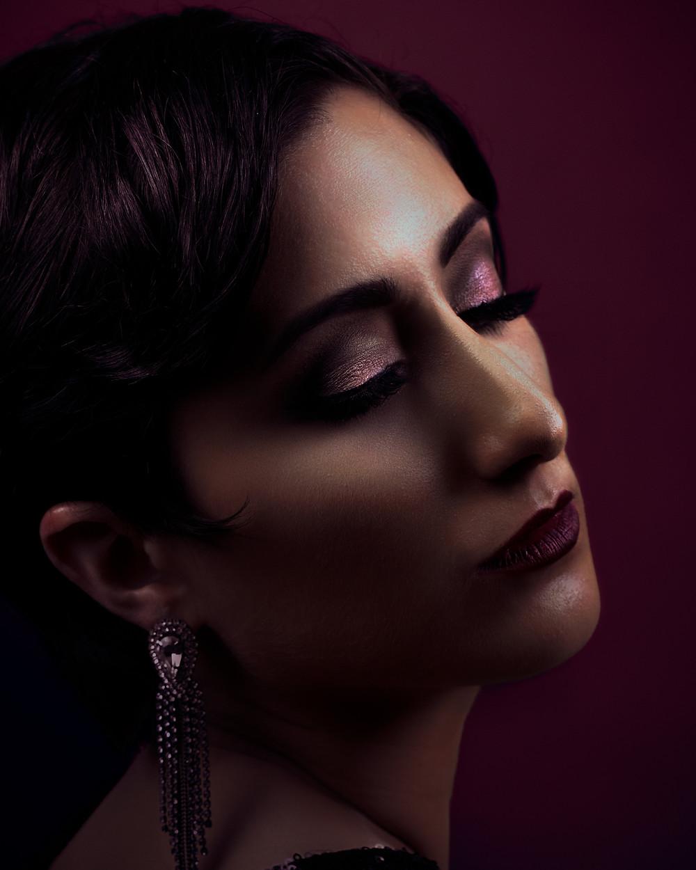 Magazine inspired plum portrait look
