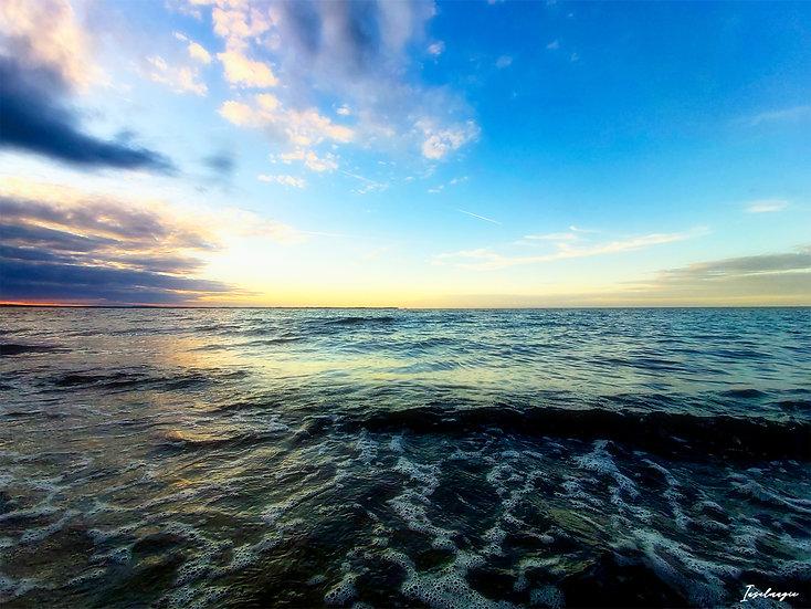 Nr.103 Abendstimmung am Strand von Glowe mit Blick aufs Kap Arkona