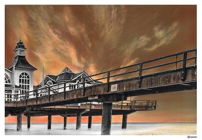 Seebrücke Sellin in Sonnenaufgang