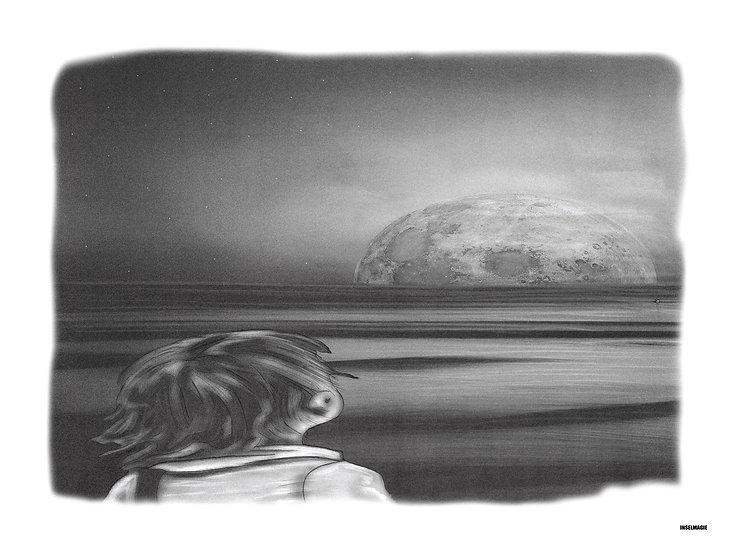 Nr.41  - kleiner Junge schaut zum Mond