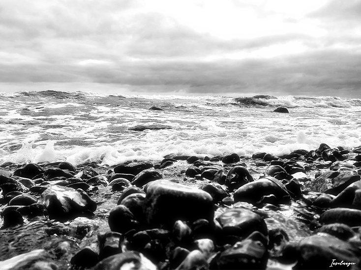 Nr.216 stürmische See am alten Strand von Sassnitz