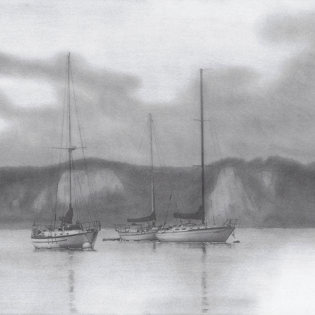 Segelboote vor Anker