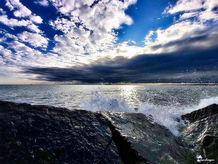 Nr.128 Blick von der Ostmole auf die Ostsee