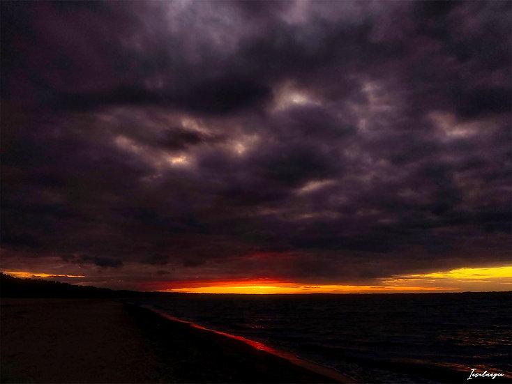Nr.108 Abendstimmung am Strand von Glowe