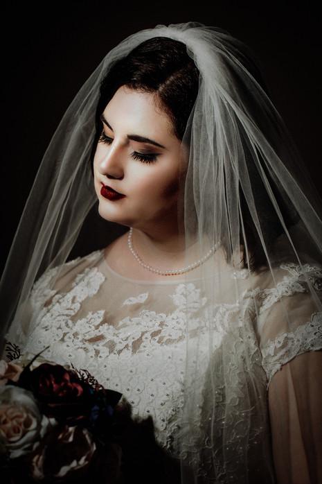 Julia on her wedding day