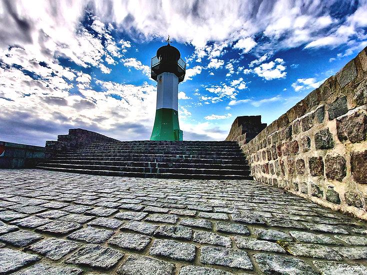 Nr.136 Leuchtturm auf der Ostmole in Sassnitz