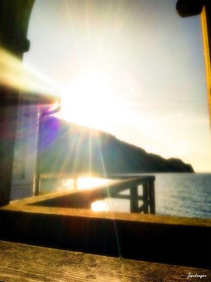 Nr.91 Abendstimmung in Sellin mit Blick von der Seebrücke