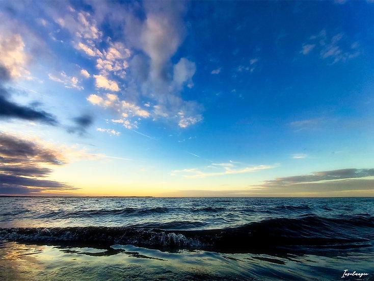Nr.104  Abendstimmung am Strand von Glowe mit Blick aufs Kap Arkona