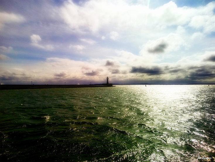 Nr.53 Blick von der Westmole im sassnitzer Hafen auf die Ostmole