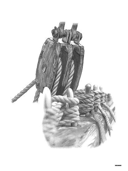 Nr.56  - Seilrolle und Reling