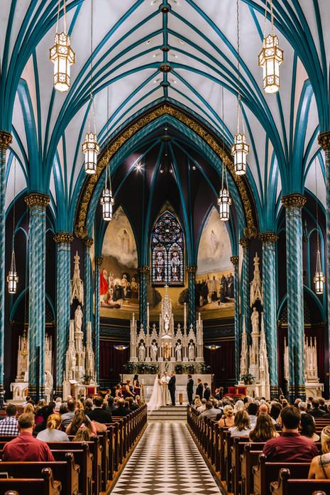 St. Francis Xavier wedding Cincinnati Ohio