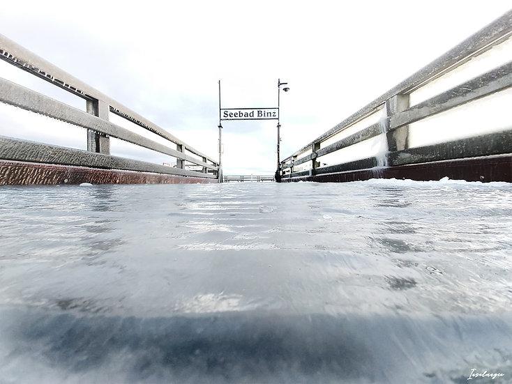 Nr.245 die binzer Seebrücke im Winter