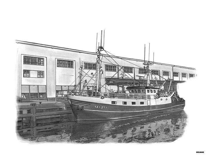Nr.51  - Fischkutter und Fischhalle im Sassnitzer Hafen
