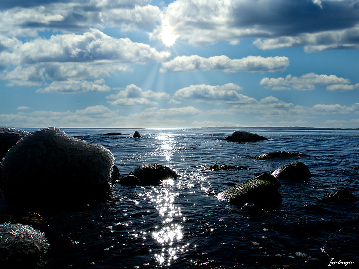 Nr.254 Morgenstimmung im Winter am alten Strand,Blick auf Binz