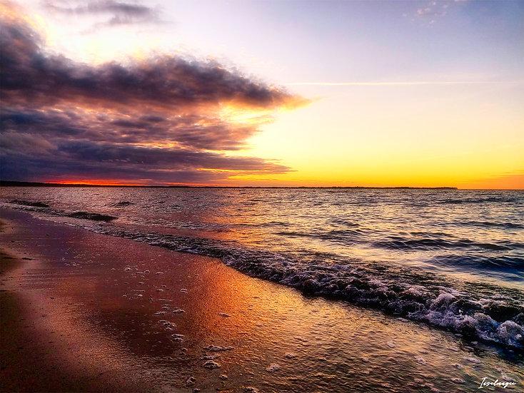 Nr.109 Abendstimmung am Strand von Glowe mit Blick aufs Kap Arkona
