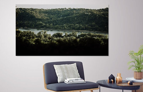 Romantic view of the Ohio River from Alms Park in Cincinnati, Ohio