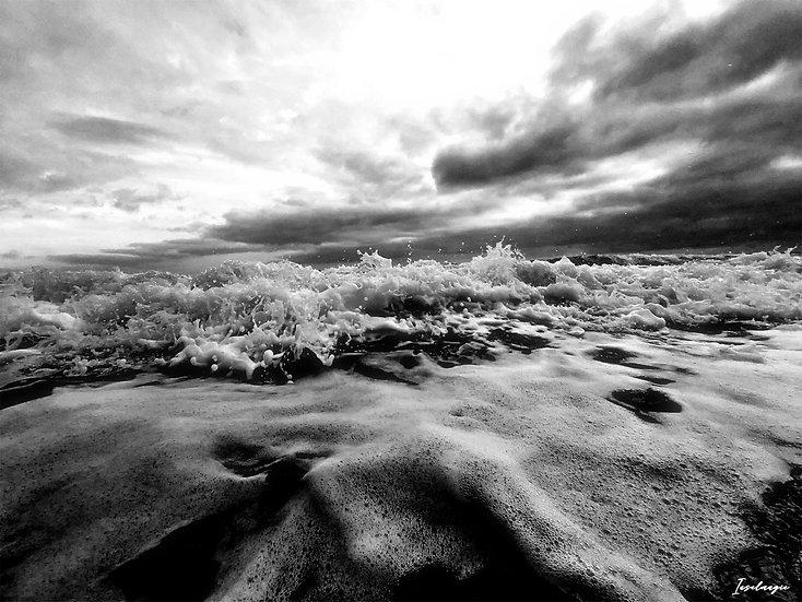 Nr.215 stürmische See am alten Strand von Sassnitz
