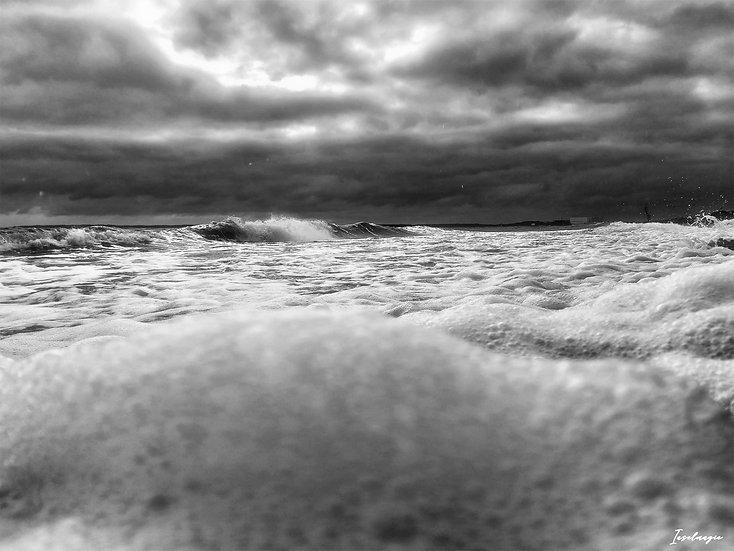 Nr.219 stürmische See am alten Strand von Sassnitz