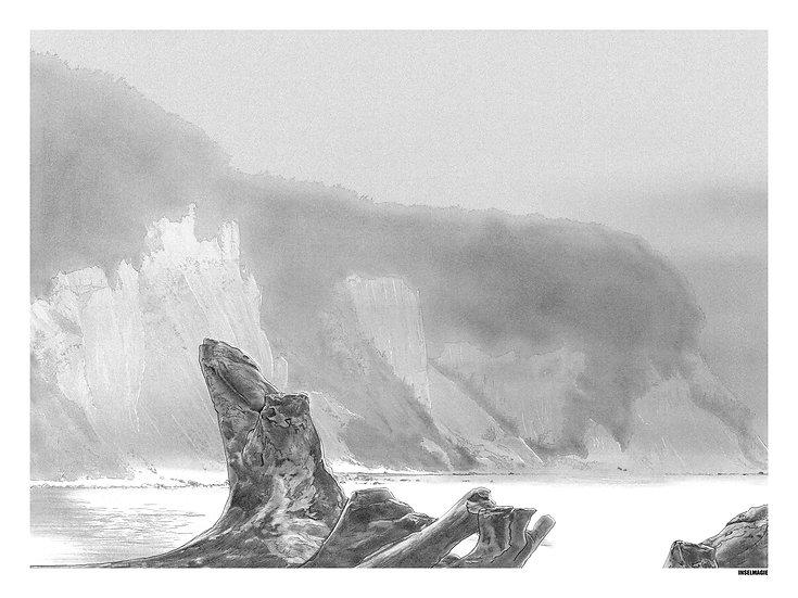 Nr.36  - Kreidefelsen im Nebel bei Sonnenaufgang
