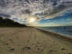Strand von Glowe im Sonnenuntergang