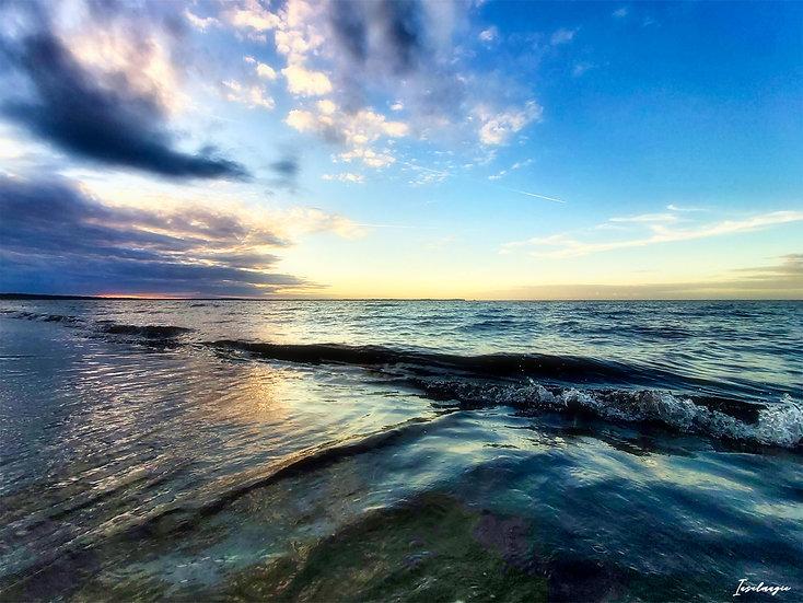 Nr.102 Abendstimmung am Strand von Glowe mit Blick aufs Kap Arkona