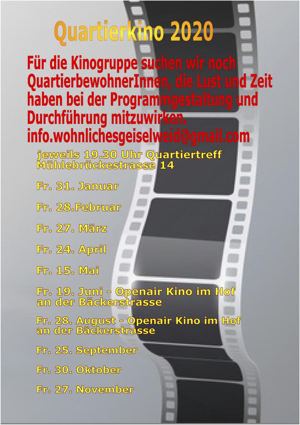 Daten Kinoabende
