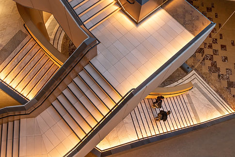 Photo of floating staircase