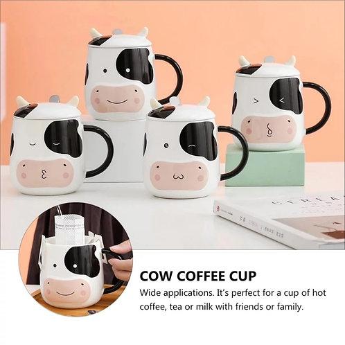 Taza cafetera con estampado de vaca
