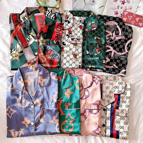 Pijama Satin gucci lv