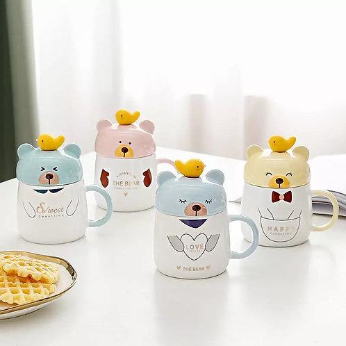 Taza de té lindo oso