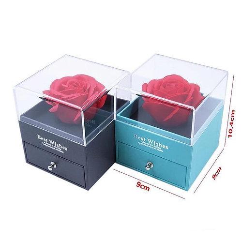 Caja de rosa best Wishes incluye collar