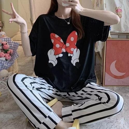 Pijama moño Minnie
