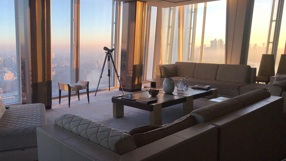 shangri-la signature suite at sunrise shard london