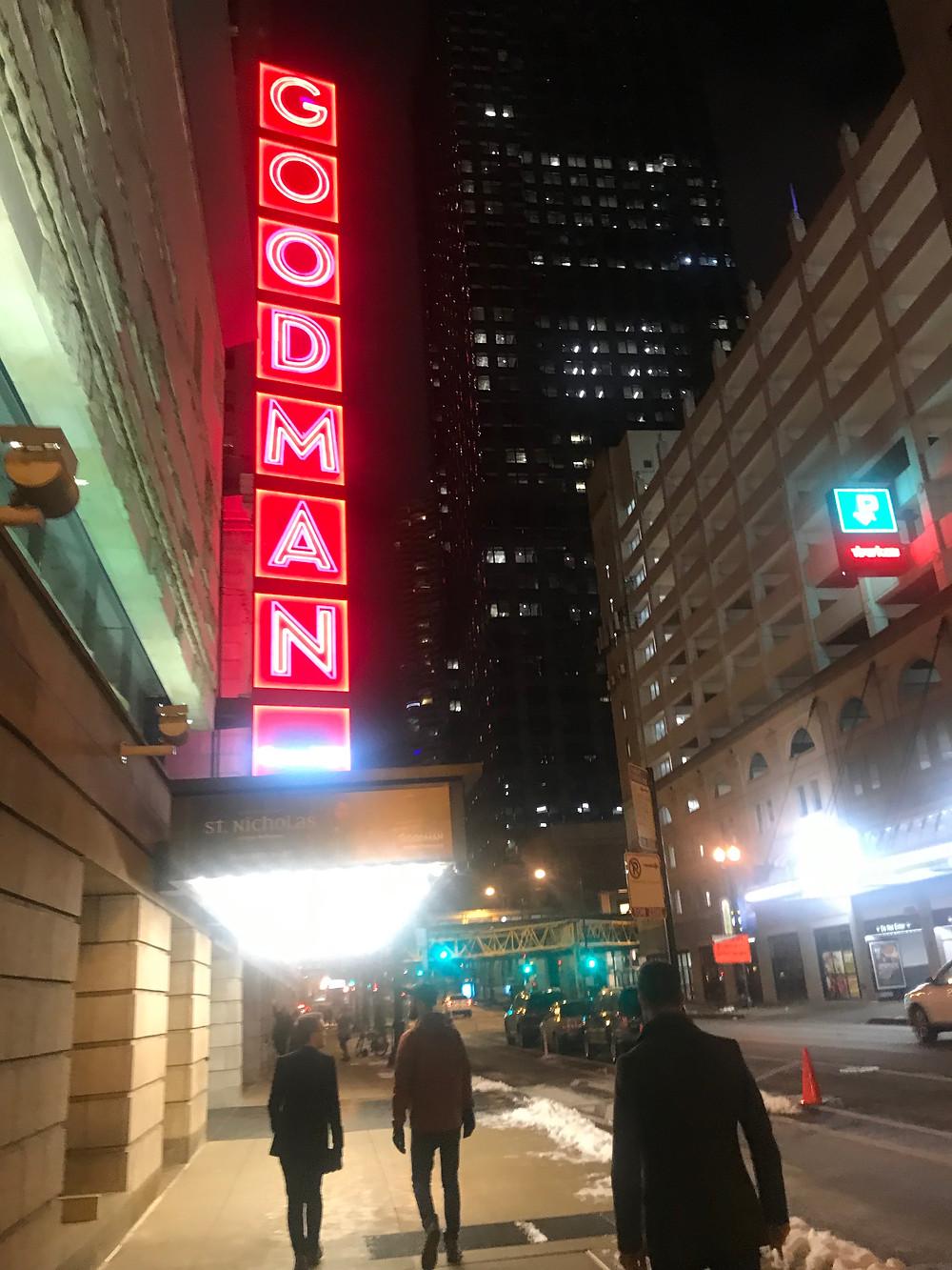 goodman theatre neon lights chicago