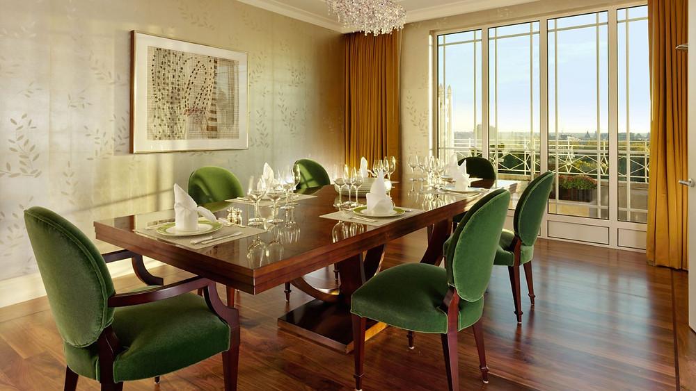 harlequin suite dorchester dining room