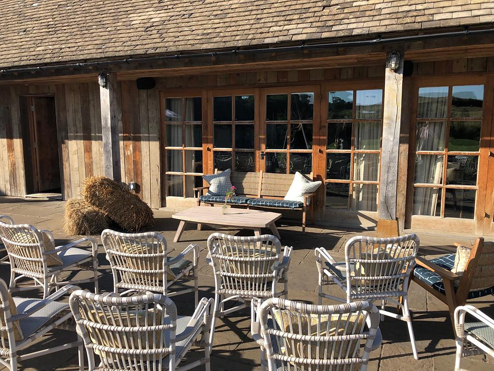 Pop-up theatre in a courtyard at Soho Farmhouse