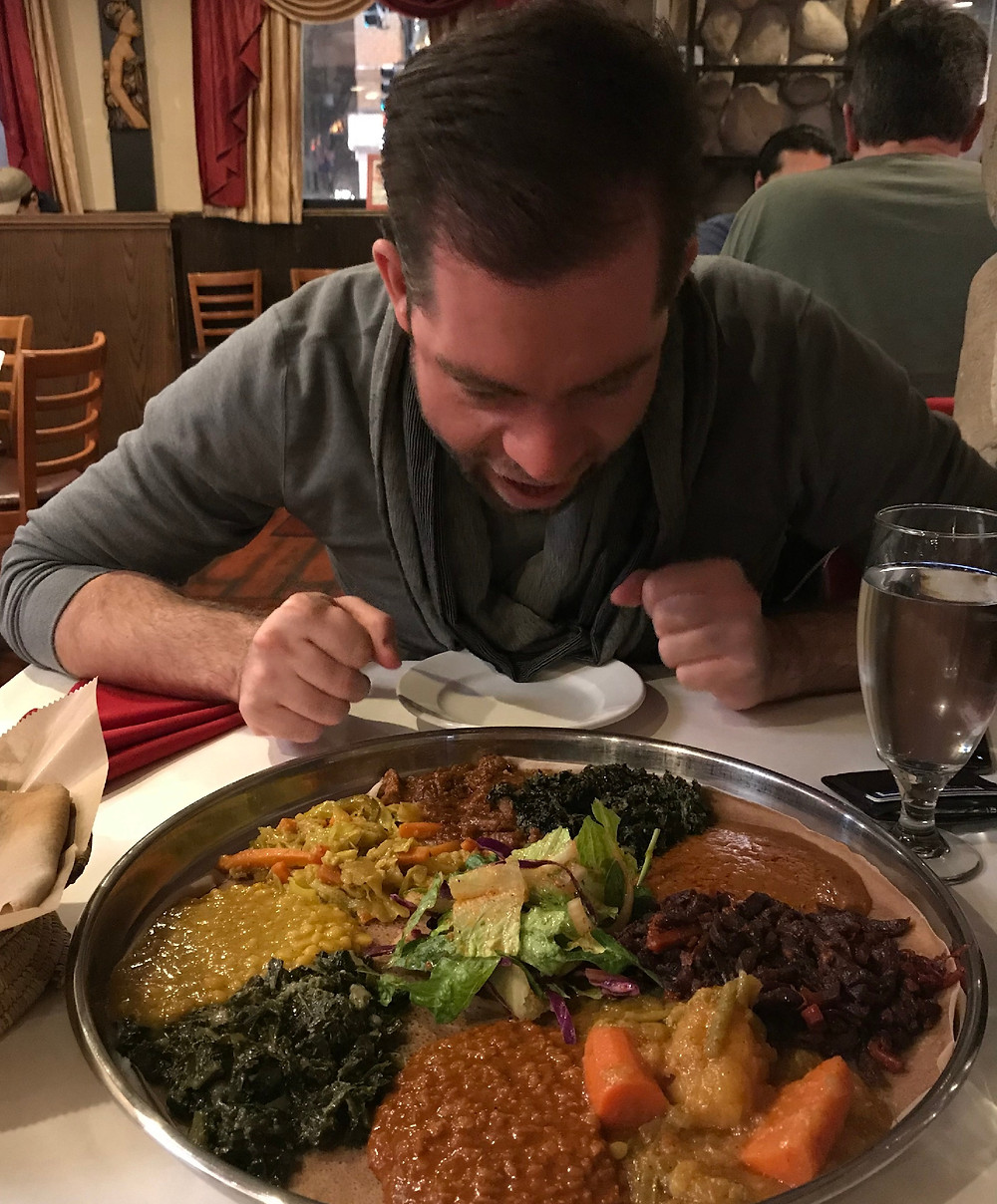 demera ethiopian food and man