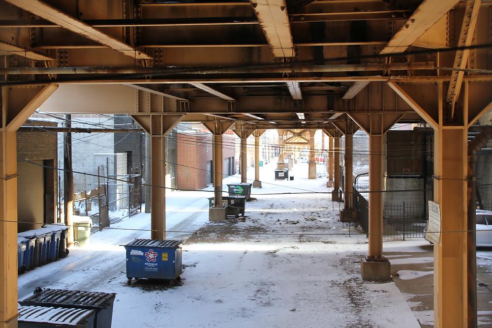 under the l train chicago
