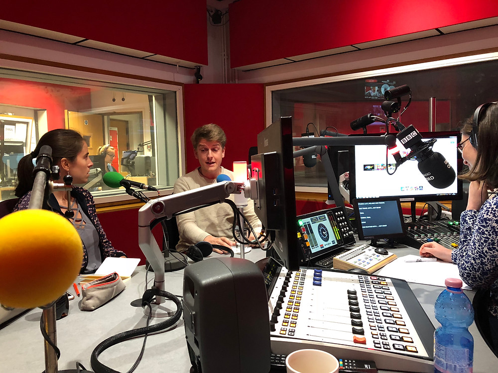 lucy eaton and freddie hutchins on bbc radio oxford interview theatre