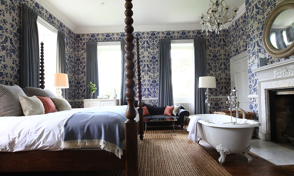 babington house luxury rural bedroom uk