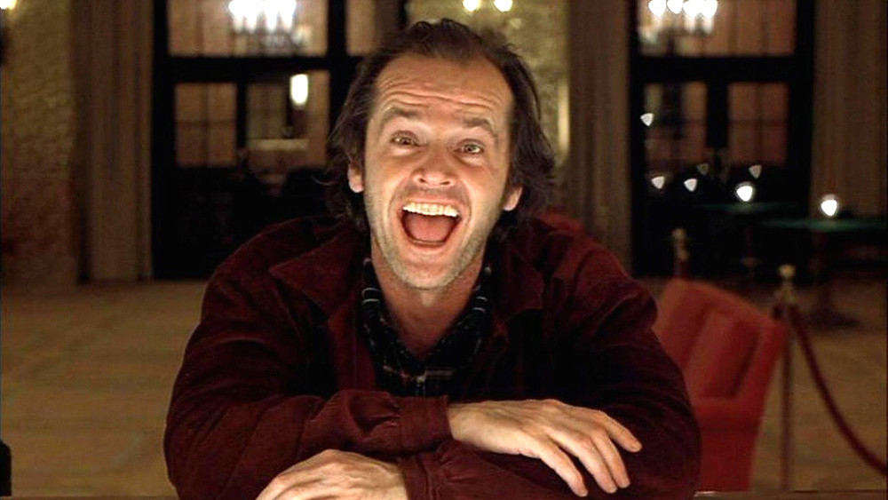 Jack Nicholson laughing in the shining