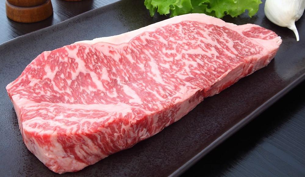 Wagyu kobe beef steak with amazing marbling
