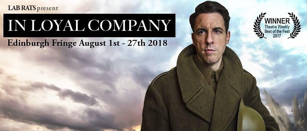 in loyal company lab rats actor dressed as wartime soldier