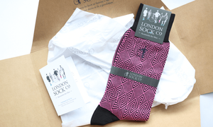 london sock company socks in wrapping paper