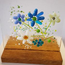 blue flower block