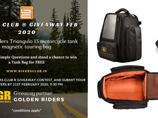 BIKERS CLUB ® Giveaway Feb 2020 (partnered by Golden Riders).